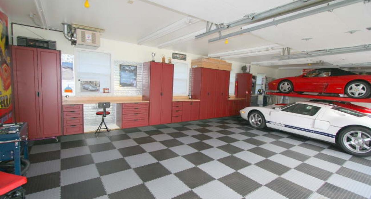 dalles de sol pour un garage