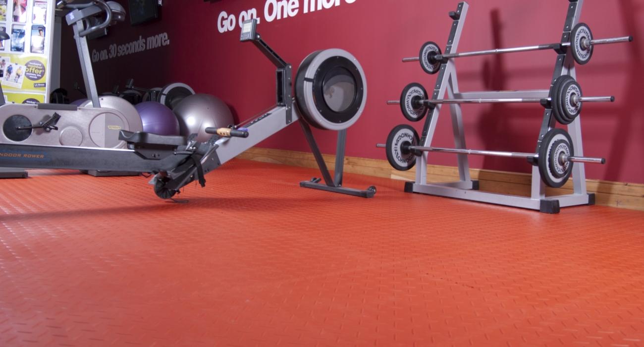 dalles de sol gym
