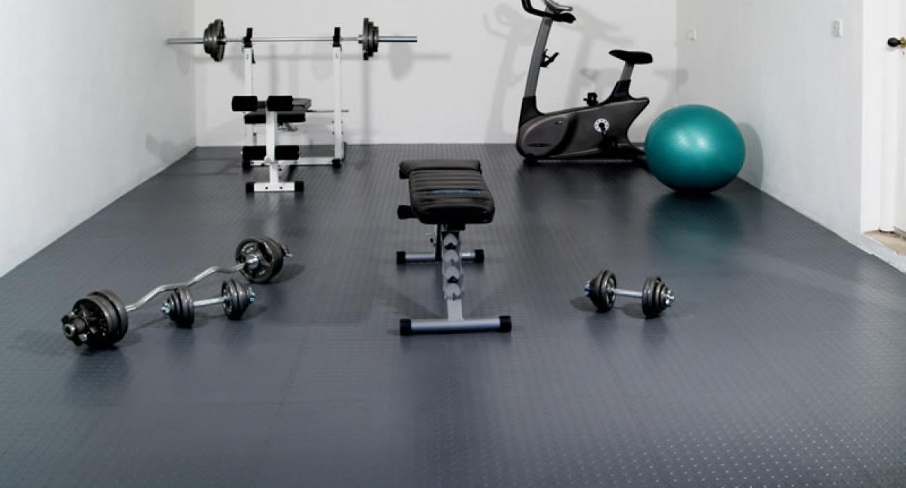 dalles de sol salle de sport