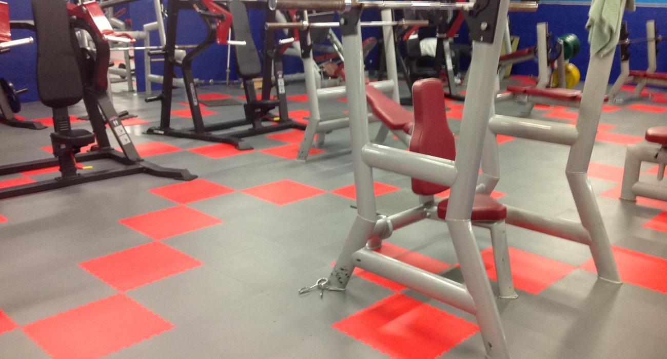dalles de sol de salle de sport